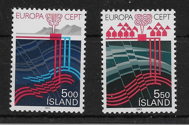ICELAND SG628/9 1983 EUROPA SET MNH