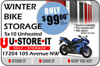 $99 5X10 Unheated Storage