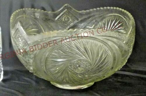 Aztec by Smith Glass Pinwheel / Cane Punch Bowl