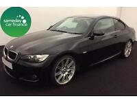 £203.97 PER MONTH BLACK 2009 BMW 320D 2.0 M SPORT COUPE DIESEL AUTOMATIC
