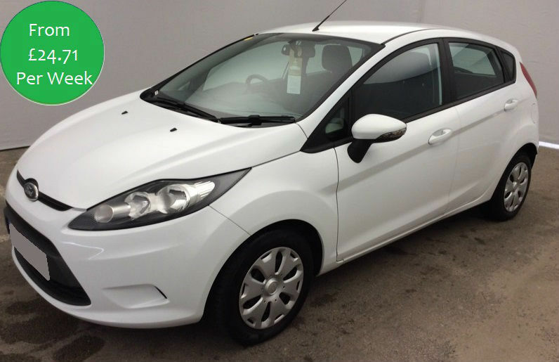£106.25 PER MONTH WHITE 2010 FORD FIESTA 1.6 TDCi ECONETIC 5 DOOR DIESEL MANUAL