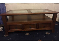 Large Coffee Table with 3 Drawers