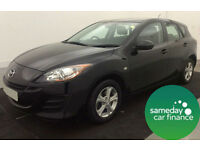 ONLY £140.41 PER MONTH BLACK 2010 MAZDA 3 1.6 TS 5 DOOR PETROL MANUAL