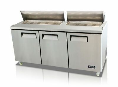New Migali 72 Sandwich Prep Table Cooler C-sp72-hc Free Shipping