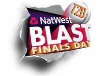 x1 Ticket for T20 Blast Finals Day Edgbaston Hollies Stand August 2016