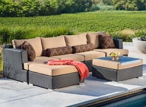 6 piece sectional patio set by Sirio Includes