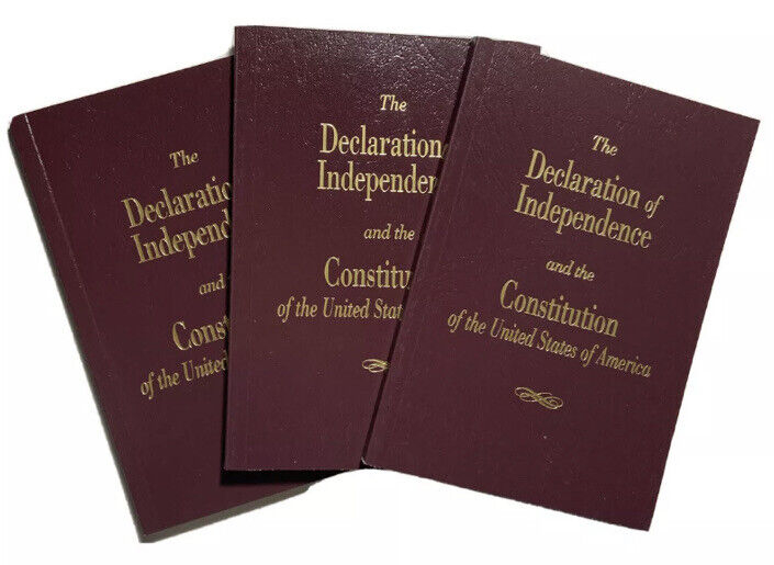 United States Constitution Pocket Size With Amendments - Lot Of 3 - Made In Usa
