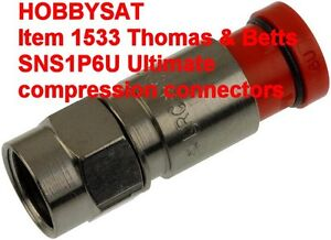 SNS1P6U Thomas & Betts Ultimate Snapnseal RG6 compression connec