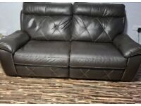 LAZBOY LAZ - BOY REAL LEATHER ELECTRIC ARM CHAIR & RELCLINING 2 SEAT WITH SCS WARRANTY