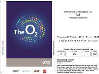 U2 in London - 23 October 2018 - 2 tickets