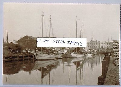 New Orleans Postcard (Read Description) 1895 Picayune Pier Luggers Carrying Food