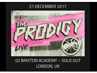 The Prodigy x 2 Standing Tickets Brixton Academy Thursday 21st December £60 each