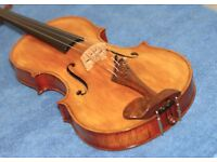 Totally unique Violin - refinished in french polish - Excellent condition