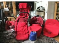 Quinny Buzz Pram with complete travel system