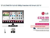 "27"" LG Full HD 1080p Freeview HD Smart LED TV"