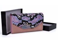 Pink colorful fashion wallet, brand new!