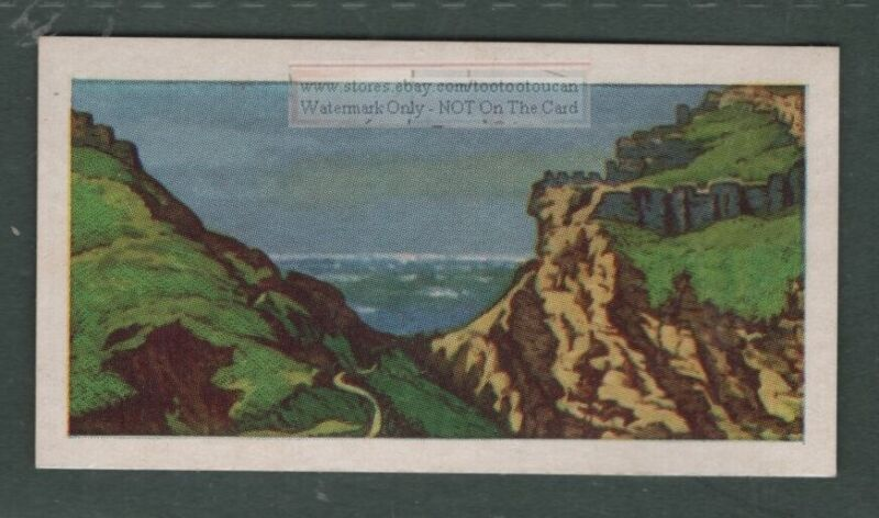 Tintagel Norman Reputed King Arthur Castle England  Vintage Trade Ad Card