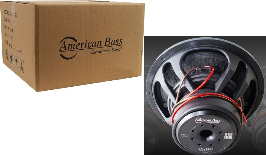 American Bass XFL1522 15 SUBWOOFER AMERICAN BASS DUAL 2 OHM