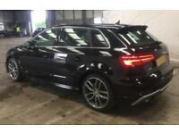 2016 BLACK AUDI S3 SPORTBACK 2.0 TFSI 310 QUATTRO 5DR AUTO CAR FINANCE FR £96 PW