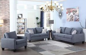 NEW ★ 3 Pcs Living Sets ★ Fabric / Bonded Leather ★ Can Deliver