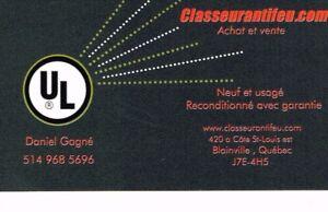 Classeur anti- feu , IGNIFUGE   (Vaste choix, avec garantie).