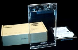Clear Shell USB 3.0 External HDD Enclosure