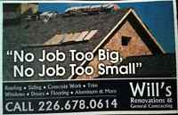 WILLS ROOFING AND GENERAL CONTRACTING