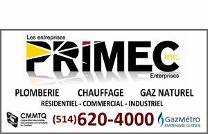 PLOMBERIE/PLOMBIER PRIMEC-MONTRÉAL-DÉBOUCHAGE-INSPECTION CAMERA