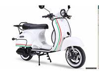 Neco Abruzzi 125cc. Retro Scooter.