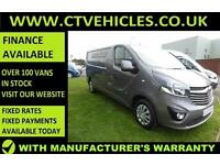 2016 16 plate Vauxhall Vivaro 1.6CDTi Sportive 2900 LWB L2H1 L2 A/C GREY van