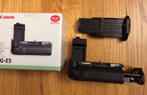 Canon Battery Grip + EOS Charger & two NEW Batteries