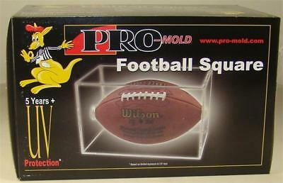 Pro Mold Full Size Football Holder Cube Display Case UV Protection NFL Super