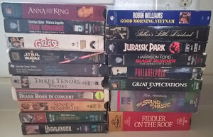 Mixed Lot of 20 VHS Movies vintage classic Action Comedy Drama