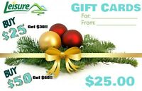 Leisure Trailer Sales Gift Cards! Perfect Gifts for Xmas!