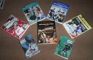 MIXED LOT OF 7 HOCKEY BOOKS - NHL & SPORTING NEWS