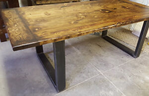 "2"" Thick, Rustic Pine Dining Tables Starting At Only $650 Kitchener / Waterloo Kitchener Area image 3"