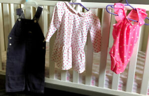 Brand New 12-18mo Roots Overalls & Gap Dress & Swimsuit