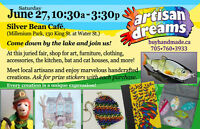 Buy handmade! Buy local! Artists and artisans @ Silver Bean Café
