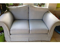 2 seater blue fabric seatee