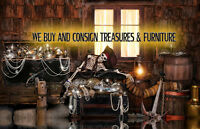 We Buy & Consign Furniture and Treasures!