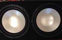 """Infinity 12"""" subwoofer w/ amp and capacitor"""