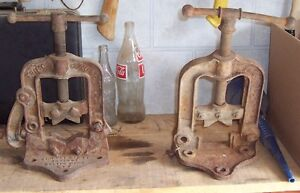 Two antique pipe vices – ONLY $25 each