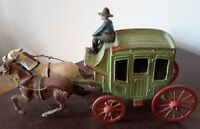 """Very Old Cast Iron Stage Coach W/Driver """"ESTATE LIQUIDATION"""""""