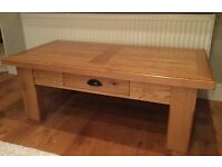 French oak coffee table