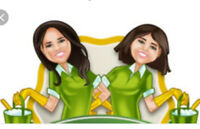 Two hard working women offering their quality cleaning services.