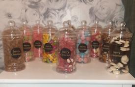 Christmas retro sweet jars