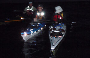 Black Reflective tape for boats - turns white in night light