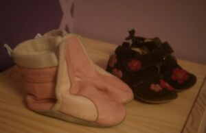 Robeez leather baby boots 2pairs
