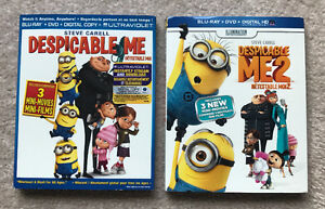 DESPICABLE ME and DESPICABLE ME 2 Movie - Blu-Ray & DVD