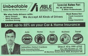 High/Low risk drivers, low insurance rates, car, home